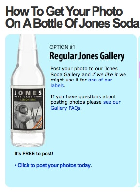 Jones Soda pic on label