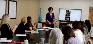 Cynthia Trevino leading workshop at Hera Hub